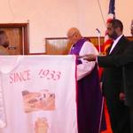 left to right: Pastor Omar Wilson, Bishop Pullian, Deacon Ernest Turner, III, Deacon Larry Brown